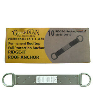 Guardian Protection 00510 18 inch 2 D ring Ridge it Fall Arrest Anchor 10 pack