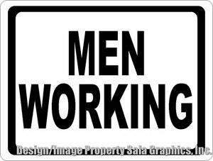 Men Working Sign Size Options Construction Zone Dangerous Work Areas Safety