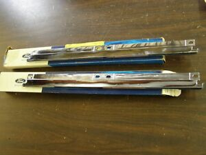 Nos Oem Ford 1966 Thunderbird Upper Grille Mouldings Pair Chrome Trim T bird
