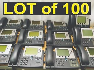 Lot Of 100 Cisco 7960 Ip Phone Voip Internet Phone Sip Or Sccp Firmware Cp 7960g
