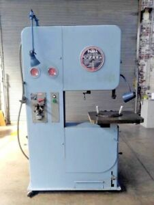 Doall Model 2612 Vertical Band Saw 26 X 12 Capacity With Band Welder