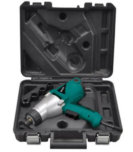 Heavy Duty Electric Impact Wrench 1 2 Drive And 4 Sockets 450nm Torque 1000w