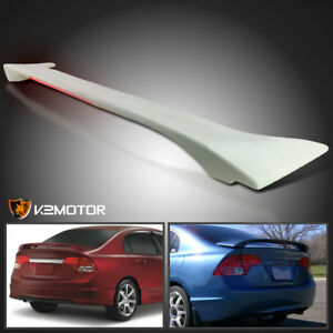 For 06 11 Civic 4dr Sedan Factory Style Abs Trunk Spoiler Wing Led Brake Light