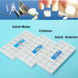 3boxdental Transparent Crowns Adult Children Temporary Preformed Tooth Pre crown