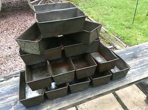 15 Same Vintage Light Weight Metal Storage Bins 6 X 10 4 High Very Good