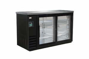 New 49 2 Glass Sliding Door Back Bar Bottle Cooler 49 x24 x36 h Free Shipping