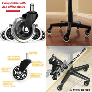 Office Chair Wheels Replacement Rubber Casters For Hardwood Floors