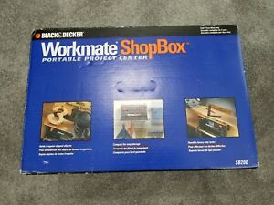 Black and Decker Workmate ShopBox Bench Top Project Center Vise Tray Clamps