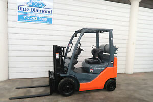 Toyota 8fgcu20 4 000 Cushion Tire Forklift Sideshift Lpg Low Hours