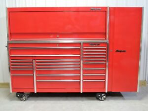 Snap On Candy Apple Red Krl1023 Tool Box Stainless Top Hutch Krl1012 Locker