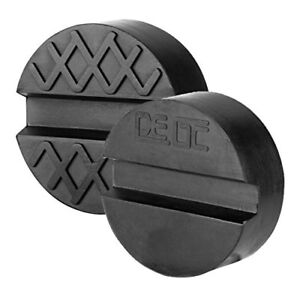 Dedc 2 Packs Universal Slotted Rubber Jack Pad Frame Rail Protector Pinch Weld