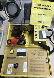 Rycom Cable Fault Locator Model 8831 Transmitter Receiver W probe Cables