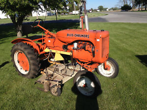 1942 Allis Chalmers B Tractor With Woods L59 Mower And One Bottom Plow