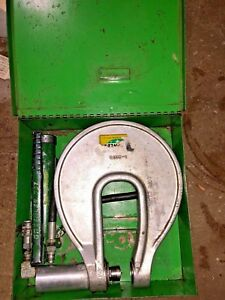 Greenlee 1731 M3 One Shot Hydraulic Knockout Driver With Pump Accessories