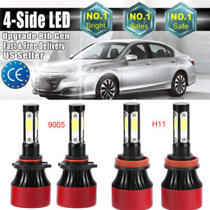4x Car 9005 h11 36000lm 240w Car Headlight Bulbs Led Hi lo Beam Bulbs Kit 6000k