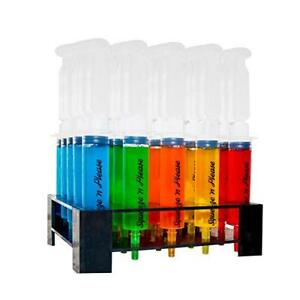 Squeeze n Please Jello Shot Syringes 25pc Set With Caps And Tray Large Plas