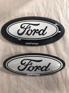 2018 Ford F150 Custom Grille tailgate Emblem Gloss Black ua white No Camera
