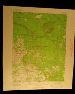 Freesoil Michigan 1958 Vintage Usgs Topographical Chart Map