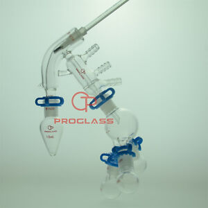 Proglass Glass Jacket Chemistry Lab Glassware Distillation Kit 14 20 Distilling
