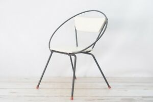 Vintage Mid Century Modern Eames Era 1950s Child S Hoop Chair Black And White