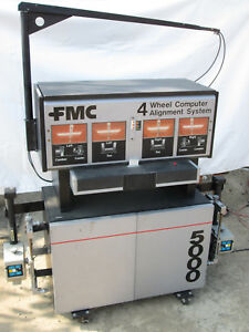 Fmc 4 Wheel Computer Alignment Aligner Machine System 5000 Mechanic Shop Tire