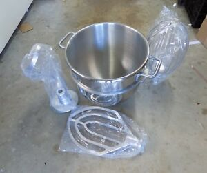 Hobart 30qt S s Bowl 43740 Hook 475896 Wire Whip 275899 Beater 275450