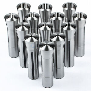 13 Pc R8 Collet Set 1 8 To 7 8 Fractional High Precision For Bridgeport
