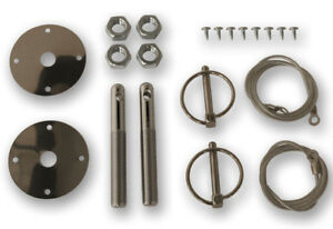 New 1965 1973 Ford Mustang Deluxe Stainless Steel Hood Pin Kit Shelby Gt