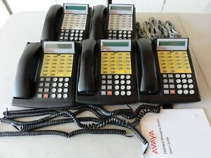 Lot Of 5x Avaya Lucent Partner Euro 18d Black Excellent Condition