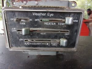 71 72 73 74 Amc Javelin Amx Sst Dash Heater Air Conditioning Controler Unit Oem