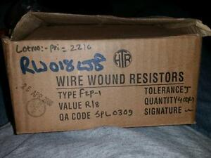 400 Htr Wire Wound Wirewound Resistors F2p 1 R18j Hi tech Resistors Private Ltd
