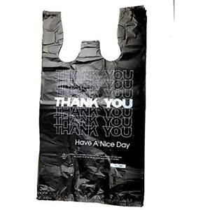 1 6 Home Kitchen Features T shirt Bag Large 12 X 21 1000 Thank You Blk