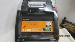 New Sealed Gallagher S17 Portable Solar Fence Energizer 10 Miles 30 Acres