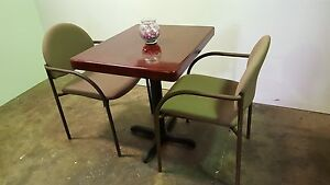 New Caf Table 24 X 30 And Two Chairs