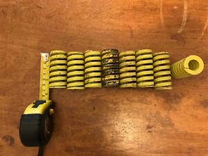 8 Heavy Duty Yellow Compression Die Spring See Pics For Size Lot 14