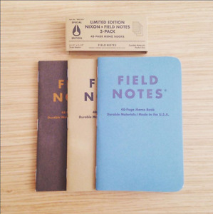 Field Notes Nixon 2015 limited Edition 3 pack