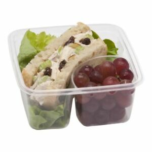 Fabri kal 9509502 2 compartment Compostable Container 300 Cs