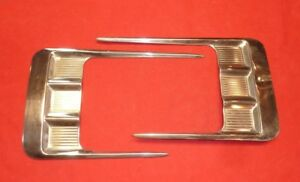 1958 Chevrolet Chevy Impala Pitch Fork Trim Pair Original Gm