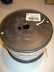 New 500 Ft Solid White12 Gauge Copper Thhn Wire Old Stock