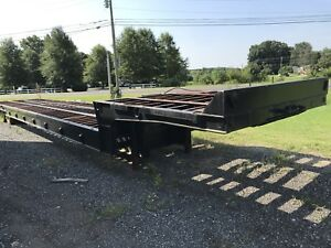 1996 Trail King Hydraulic Dove Tail Equipment Trailer Winch Hyd Ramp