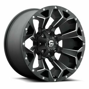 17 Fuel Assault D546 Black Milled Wheel 17x8 5 6x120 14mm Chevy Gmc 6 Lug Truck