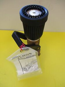 Akron Firefighting Equipment Brass Nozzle Style 3025 Afff 2 1 2 250 Psi