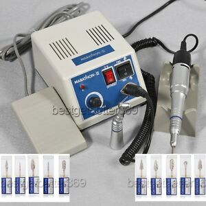 Us Dentist Lab Marathon Handpiece 35k Rpm Electric Micromotor Polisher 10 Drill
