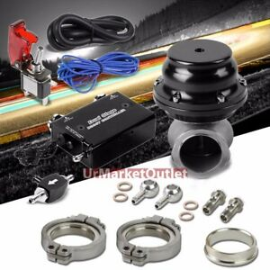 Black Dual Stage Electronic Turbo Boost Control 44mm External Manifold Wastegate