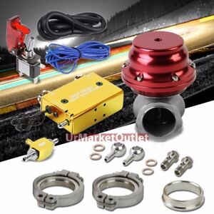 Gold Dual Stage Electronic Turbo Charger Boost Control red External Wastegate