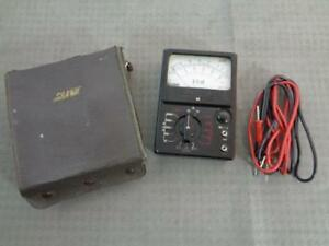 Sanwa Jp 5d Ohm Analog Multimeter In Leather Case