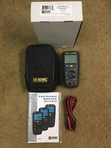 New In Box Aemc 5212 Digital Multimeter Kit True Rms 4000 cts 600v Ac dc