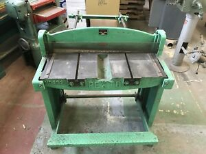 Pexto 132 h 37 X 18 Ga Foot Sheet Metal Shear Rear Arms Nice Shape