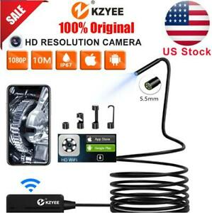 Kzyee Wireless Endoscope 10m Semi rigid Cable Inspection Camera Wifi Android