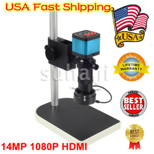 14mp 1080p Hdmi Usb Digital Industry Video Microscope Camera C mount Lens Dvr Us